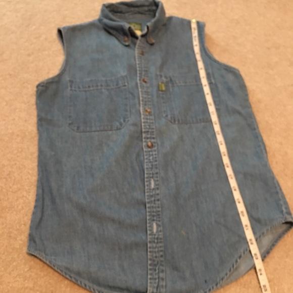Esprit sleeveless button down shirt